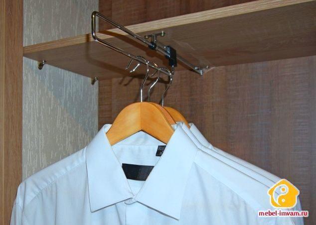 Штанга торцевая для вешалок (для узких шкафов).